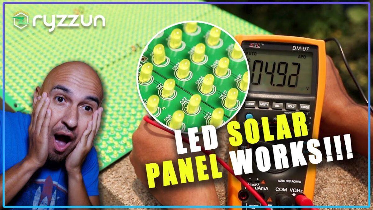 Homemade Solar Panel Using LED Lights DD ElectroTech DIY India