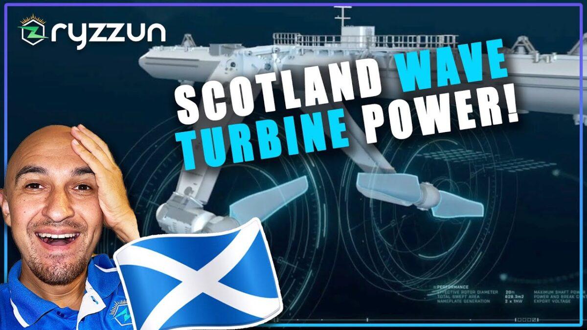Orbital O2 Tidal Turbine Wave Power by Scotland UK's Marine Power Live