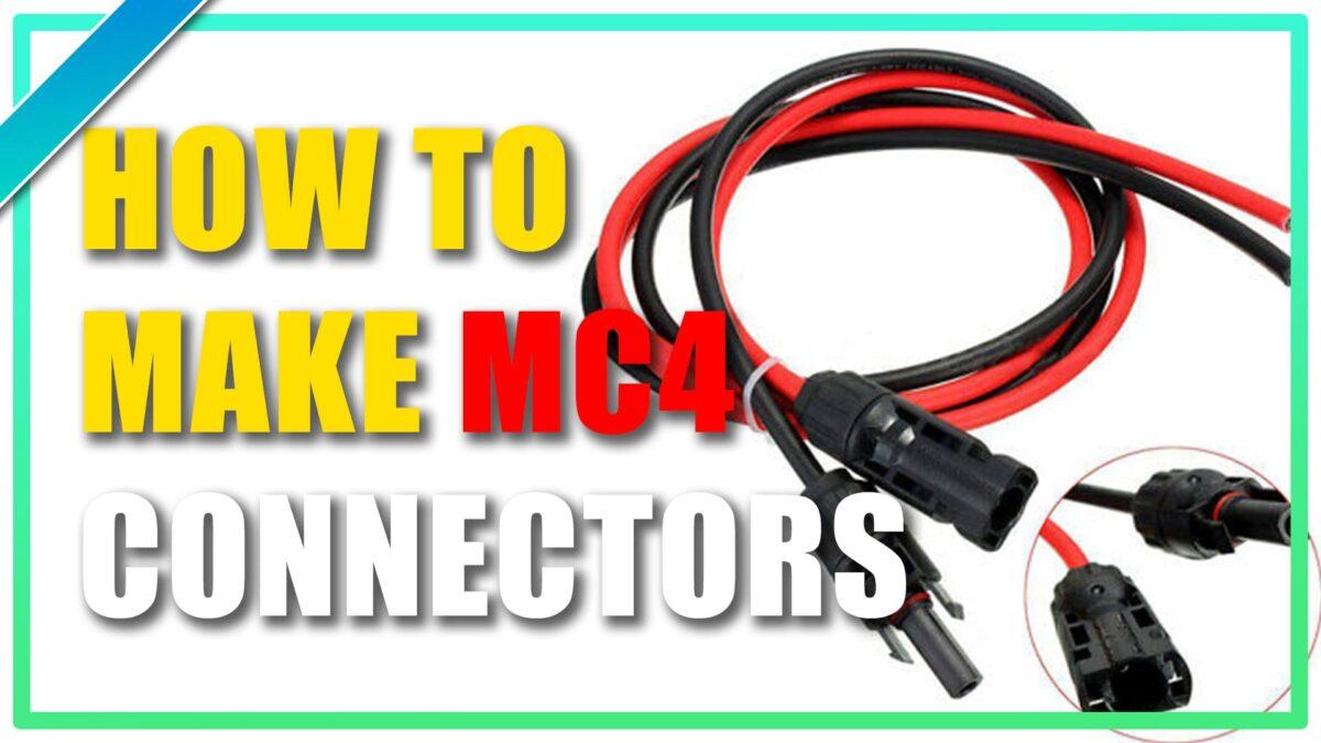 How To Make MC4 Solar Panel Connectors Crimp DIY Cable Tools